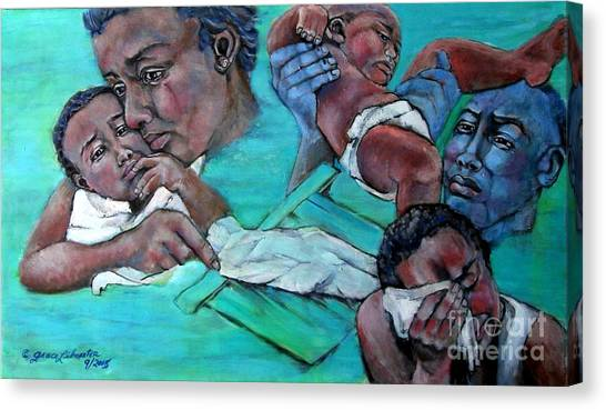 Katrina And The Days That Followed Three Canvas Print