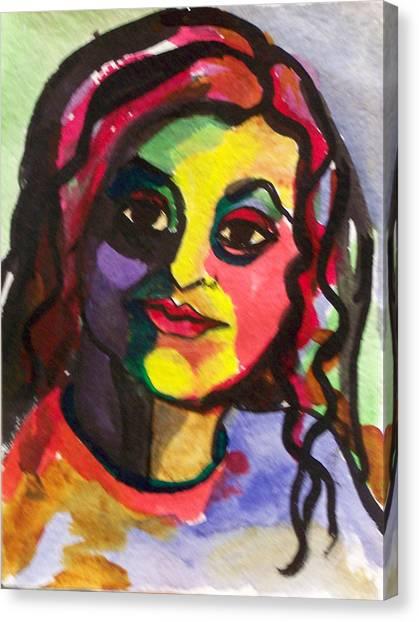 Canvas Print - Katrina by MtnWoman Silver