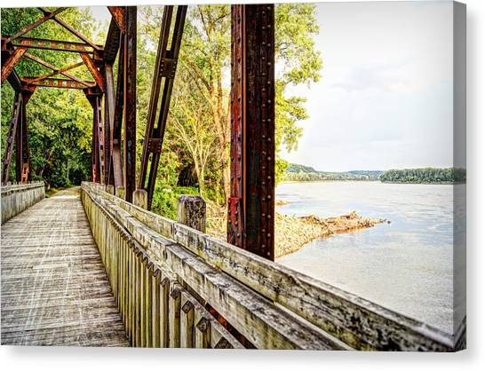 Cricket Canvas Print - Katy Trail Near Coopers Landing by Cricket Hackmann