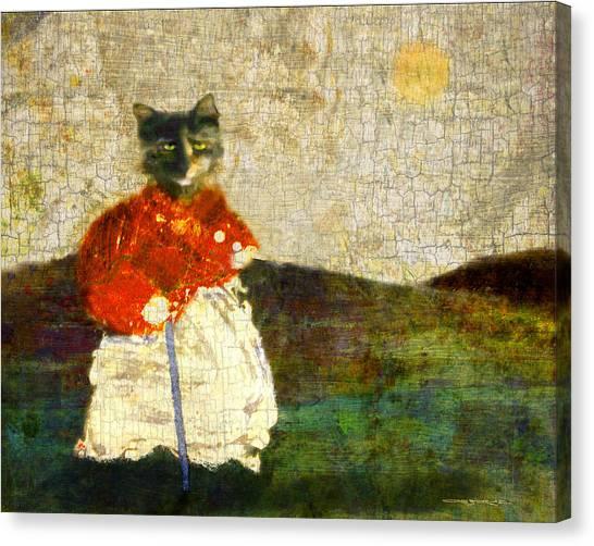 Katzenmutter Canvas Print
