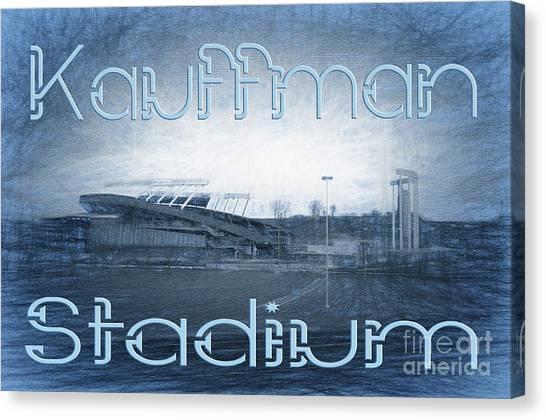 Kansas City Royals Canvas Print - Kauffman Stadium by Andee Design