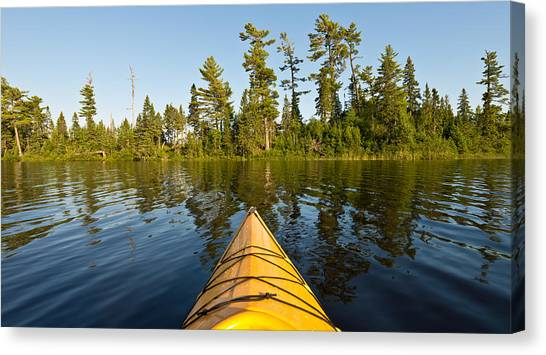 Kayaks Canvas Print - Kayak Adventure Bwca by Steve Gadomski