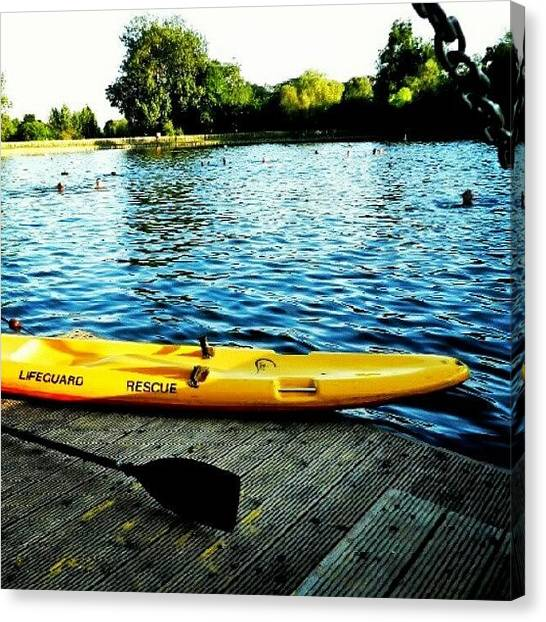 Kayaks Canvas Print - Kayak by Alicia Beiserra