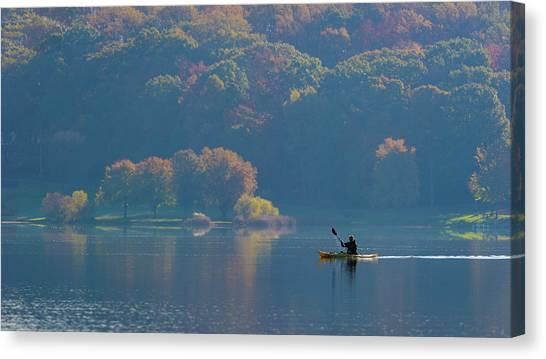 Canoe Canvas Print - Kayaking by ??? / Austin