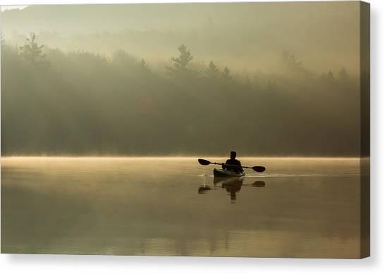 Kayaking At Sunup Canvas Print