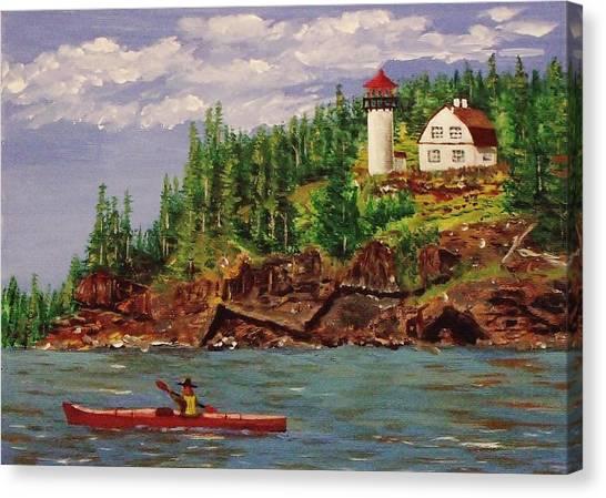 Kayaking The Coast Canvas Print