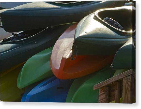 Kayaks For Rent Canvas Print