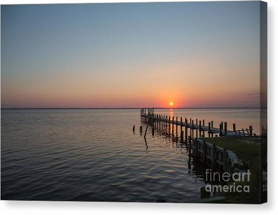 Kayaks In Sunset Canvas Print