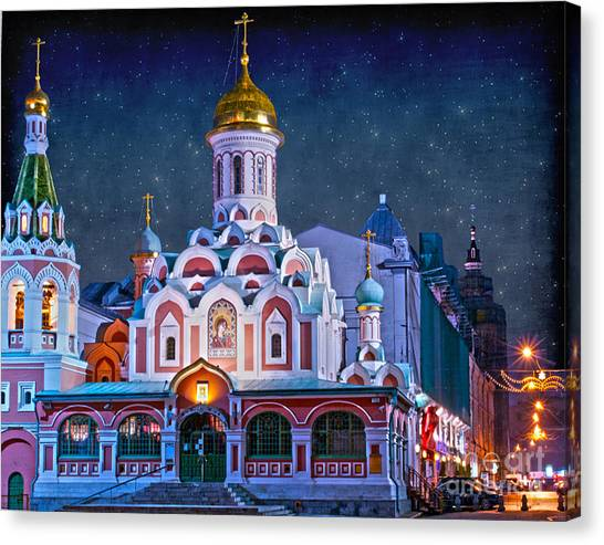 Kazan Cathedral. Red Square. Moscow Russia Canvas Print