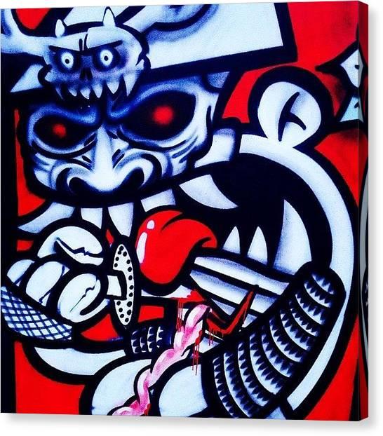 Samurai Canvas Print - #kbtr #instakbtr #spraycanart by 🅿💀r1⃣©⚠◀ Qu1⃣5⃣p3⃣l