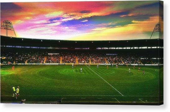 Edit Canvas Print - Kc Stadium In Kingston Upon Hull England by Chris Drake