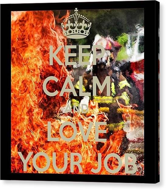Firefighters Canvas Print - #kcco  #iaff  #fire  #firefighter by James Crawshaw