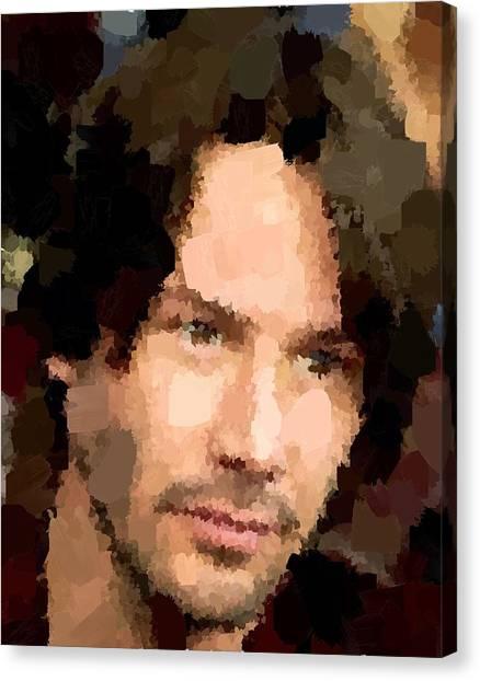Keanu Reeves Canvas Print - Keanu Reeves Portrait 01 by Samuel Majcen