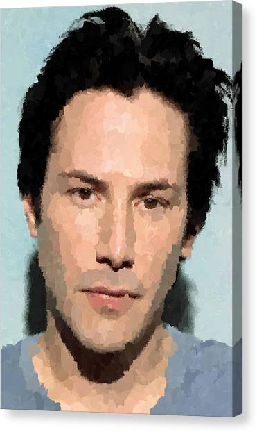 Keanu Reeves Canvas Print - Keanu Reeves Portrait by Samuel Majcen