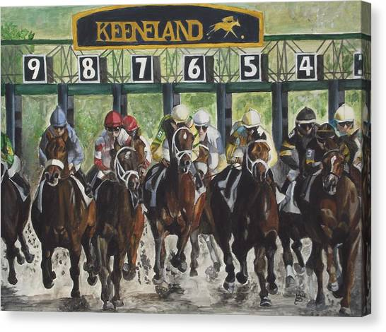 Acrylic Canvas Print - Keeneland by Kim Selig