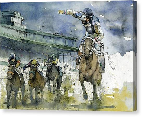 Kentucky Derby Canvas Print - Keeneland  by Michael  Pattison