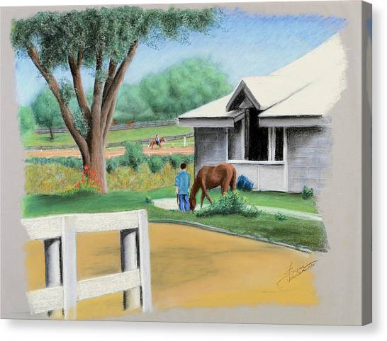 Keenland Paddock Canvas Print