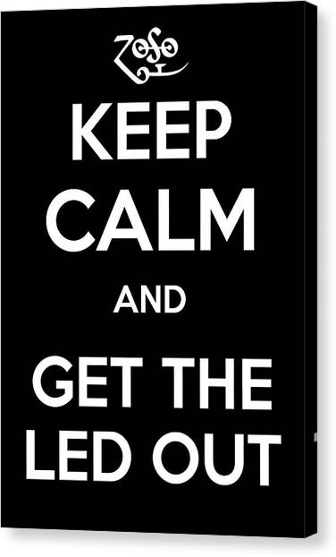 Jimmy Page Canvas Print - Keep Calm And Get The Led Out by James Kirkikis