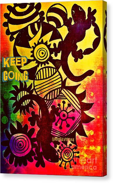 Keep Going Canvas Print by Currie Silver
