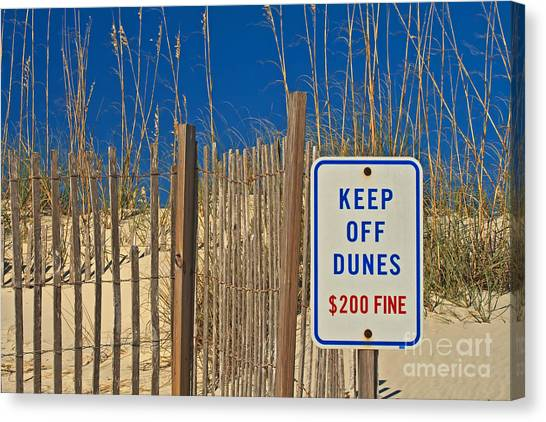 Keep Off Dunes Canvas Print