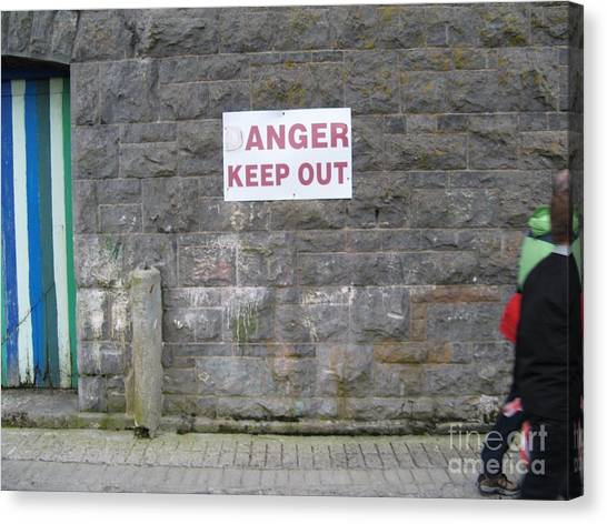 Keep Out Aran Islands Ireland Canvas Print