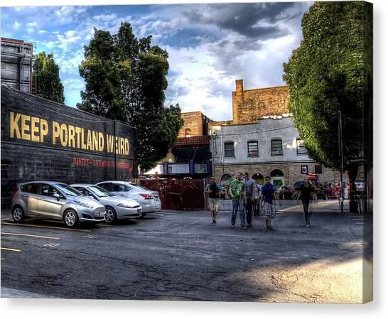 Keep Portland Weird Canvas Print