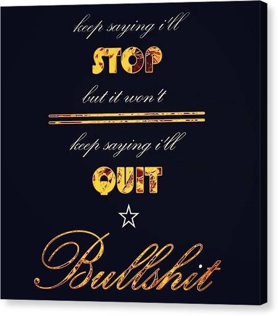 Meals Canvas Print - Keep Sayin' I'll Stop... #retweet by Meal Ticket Poetry