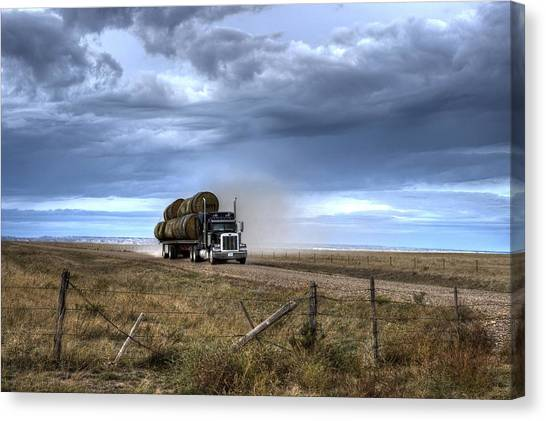 Keep Those Hay Bales Rolling Canvas Print