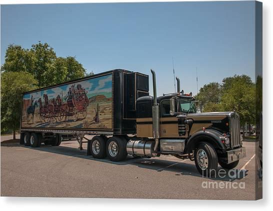 Keep Those Wheels A Truckin Canvas Print