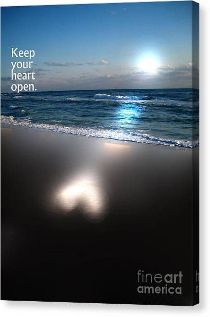 Keep Your Heart Open Canvas Print by Jeffery Fagan