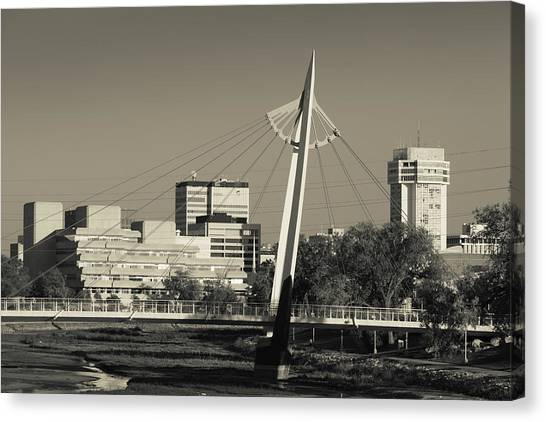 Keeper Canvas Print - Keeper Of The Plains Footbridge by Panoramic Images