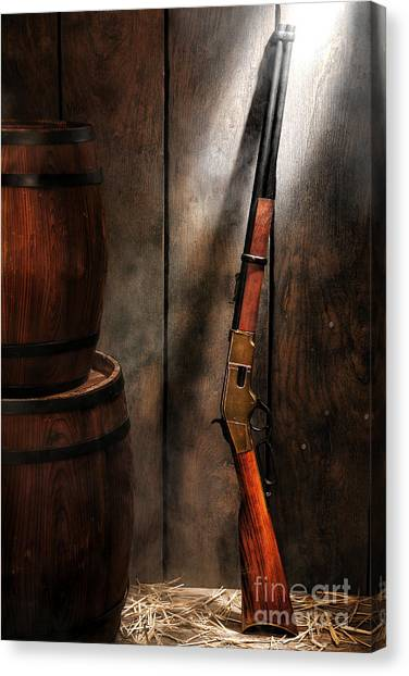 Shotguns Canvas Print - Keeping The Stockroom by Olivier Le Queinec