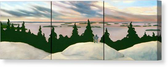 Keeping Watch Tripych Canvas Print