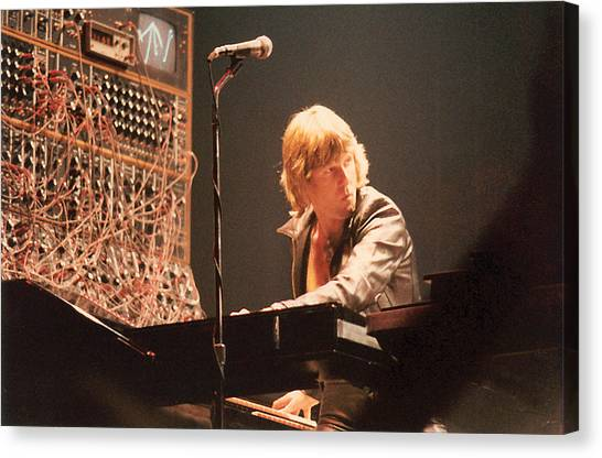 Synthesizers Canvas Print - Keith Emerson by Alfred Dominic Ligammari II