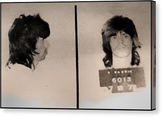 Keith Richards Mugshot - Keith Don't Go Canvas Print