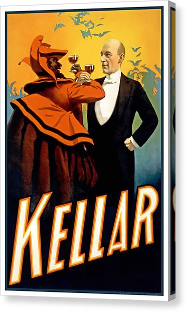 Kellar Toasts The Devil Canvas Print