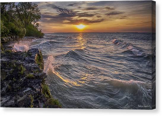 Kelleys Island At Sunset Canvas Print