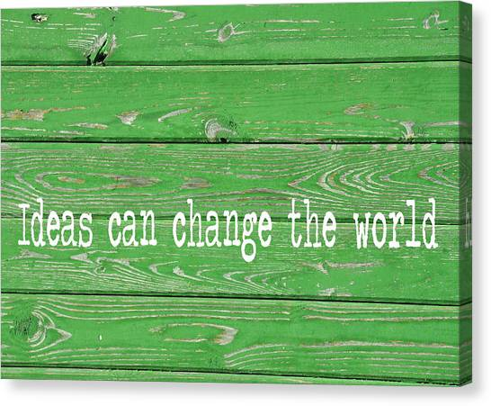 Kelly Colored Quote Canvas Print by JAMART Photography