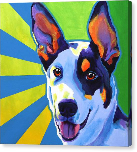 Border Collies Canvas Print - Kelpie - Oakey by Alicia VanNoy Call