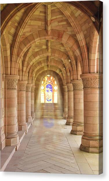 Kelso Abbey Stained Glass Canvas Print