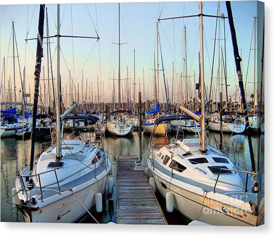 Kemah Boardwalk Marina Canvas Print