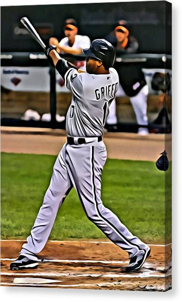 Chicago White Sox Canvas Print - Ken Griffey Jr Painting by Florian Rodarte