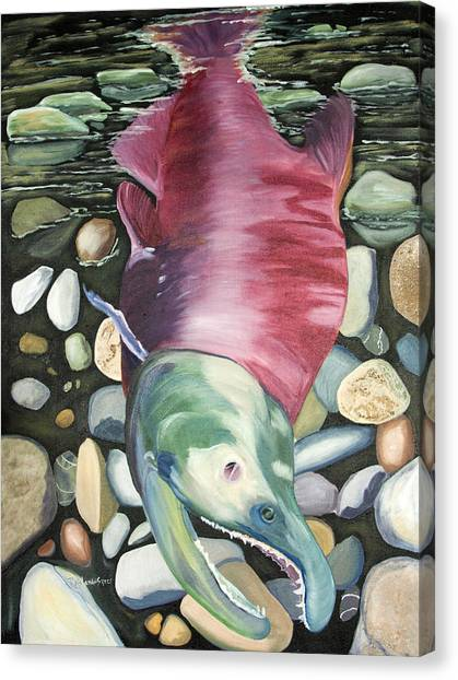 Kenai Ded Red 2 Canvas Print by Amy Reisland-Speer