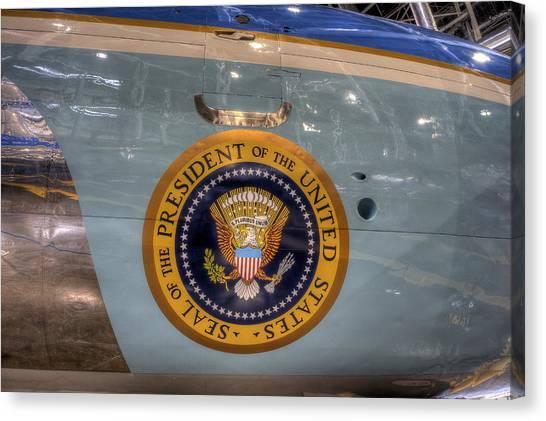 Kennedy Air Force One Canvas Print