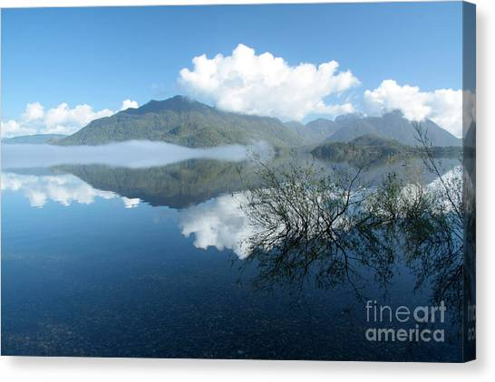 Kennedy Lake Canvas Print by Frank Townsley