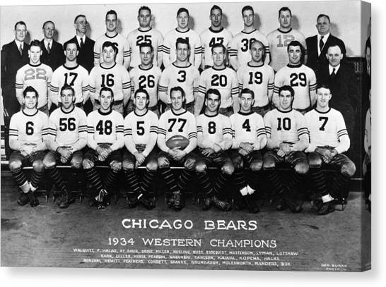 Braces Canvas Print - Chicago Bears Of 1934 by Retro Images Archive