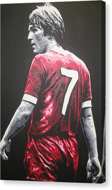 Liverpool Fc Canvas Print - Kenny Dalglish - Liverpool Fc 2 by Geo Thomson