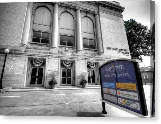 Kent State University Canvas Print - Rock-n-roll High School    Kent State Salem Ohio by David Dufresne