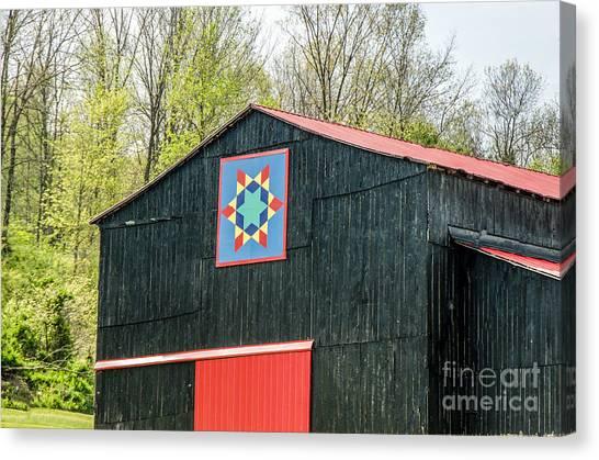 Kentucky Barn Quilt - 2 Canvas Print