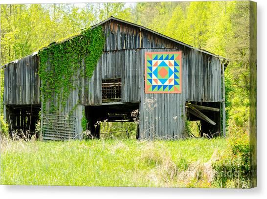 Kentucky Barn Quilt - Thunder And Lightening Canvas Print